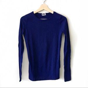 Madewell Wallace Royal Purple Crewneck Sweater